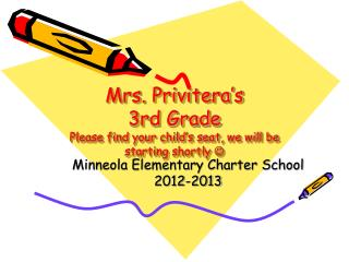 Mrs.  Privitera's 3rd Grade Please find your child's seat, we will be starting shortly  