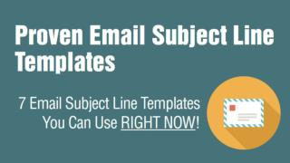 7 Email Subject Line Templates to Get Your Emails Opened