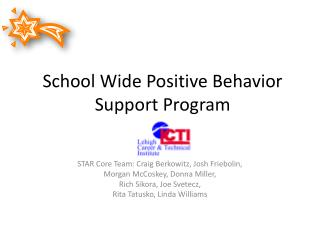 School Wide Positive Behavior Support Program