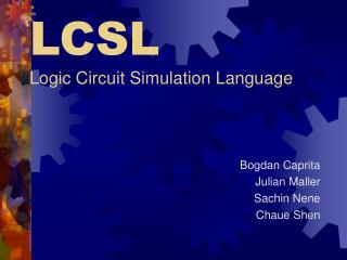 LCSL Logic Circuit Simulation Language