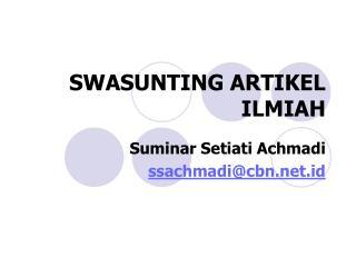 SWASUNTING ARTIKEL ILMIAH