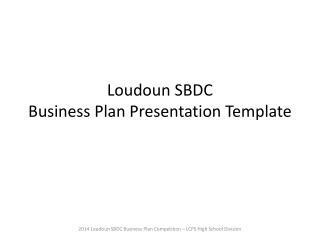 Loudoun SBDC Business Plan Presentation Template