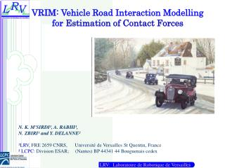 VRIM: Vehicle Road Interaction Modelling   for  Estimation of Contact Forces