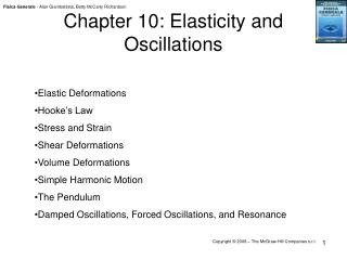 Chapter 10: Elasticity and Oscillations