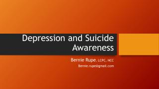 Depression and Suicide Awareness