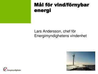Mål för vind/förnybar energi