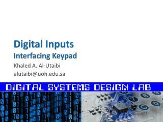 Digital Inputs Interfacing Keypad