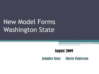 New Model Forms Washington State