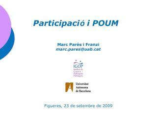 Participaci �  i POUM