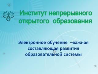Институт непрерывного открытого  образования