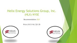 Helix Energy Solutions Group, Inc.  (HLX) NYSE