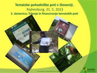 Ponudba tematskih poti v Sloveniji