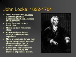 John Locke: 1632-1704