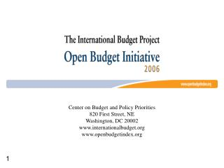 Transparent and Accountable Public Budgeting:  A Comparative Look At 59 Countries