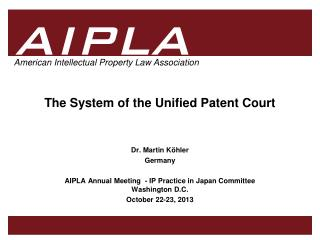 The System of the Unified Patent Court