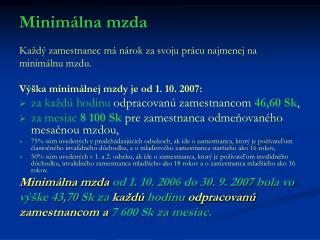 Minimálna mzda