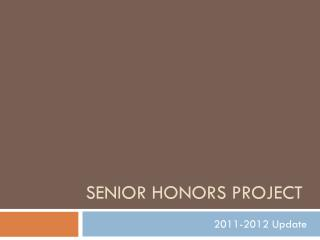 Senior Honors Project