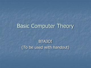 Basic Computer Theory