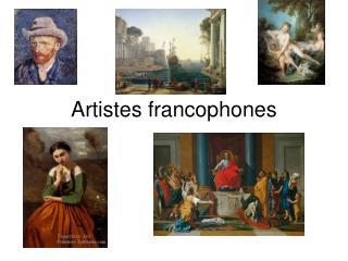 Artistes francophones