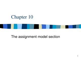 The assignment model section