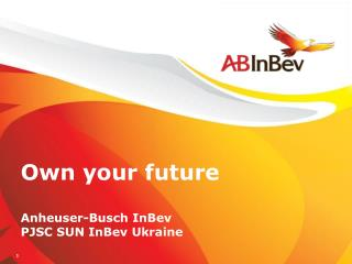 Own your future Anheuser-Busch InBev  PJSC SUN InBev Ukraine