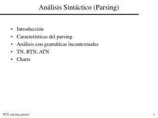 Análisis Sintáctico (Parsing)