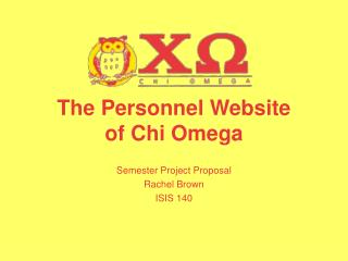 The Personnel Website of Chi Omega