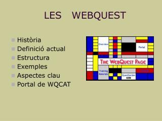 LES   WEBQUEST
