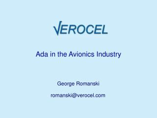 Ada in the Avionics Industry