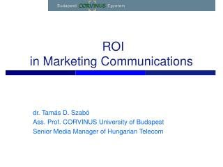ROI  in Marketing Communications