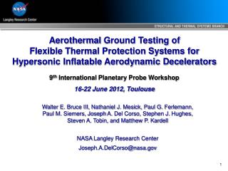 Aerothermal  Ground Testing of