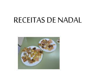 RECEITAS DE NADAL