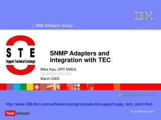 SNMP Adapters and integration with TEC