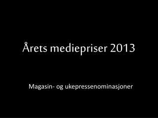 Årets mediepriser 2013