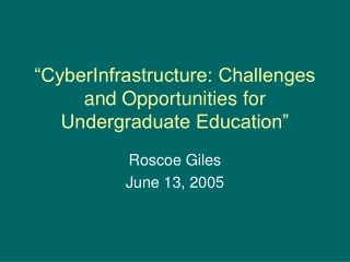 Overview of NSFs Cyberinfrastructure Resources Available to Graduate Research Fellows