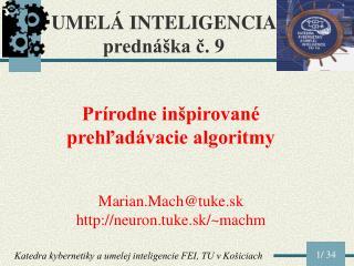 U MEL Á I NTELIGENCI A  prednáška č.  9