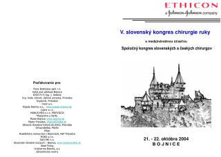 V. slovensk� kongres chirurgie ruky