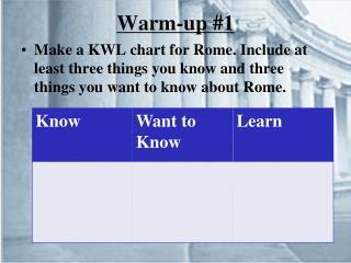 Warm-up #1