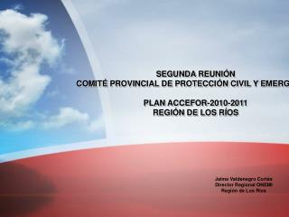 SEGUNDA REUNIÓN  COMITÉ PROVINCIAL DE PROTECCIÓN CIVIL Y EMERGENCIA PLAN ACCEFOR-2010-2011