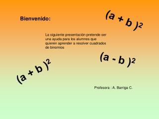 Profesora : A. Barriga C.