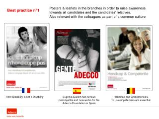 Eugenia Guillen has serious poliomyelitis and now works for the Adecco Foundation in Spain
