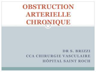 OBSTRUCTION ARTERIELLE CHRONIQUE