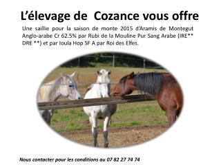 L'élevage de   Cozance  vous offre