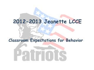 2012-2013 Jeanette LCCE