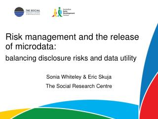 Risk management and the release of microdata :
