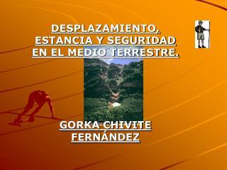 DESPLAZAMIENTO, ESTANCIA Y SEGURIDAD EN EL MEDIO TERRESTRE. GORKA CHIVITE FERNÁNDEZ