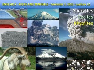 EMSC2017 - ROCKS AND MINERALS – Semester 1, 2012 – Lecture 11