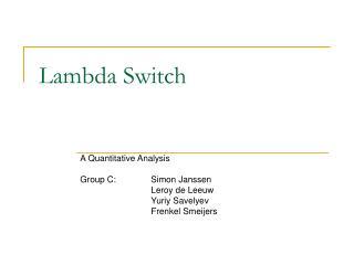 Lambda Switch