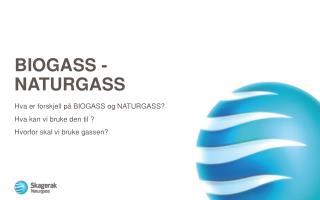 Biogass  -  naturgass