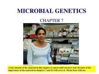 MICROBIAL GENETICS